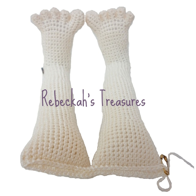 WIP Crochet Amigurumi Dolly by Rebeckah's Treasures ~ Starting body