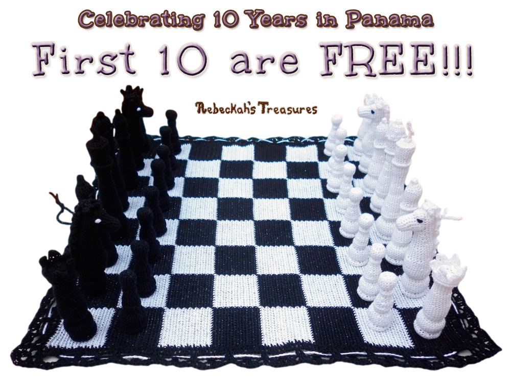 First 10 Copies of the Chess Pattern are FREE!!! Next 10 are 75% OFF... via @beckastreasures