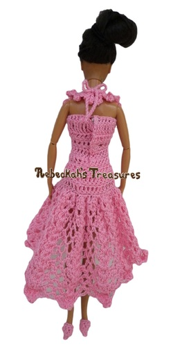 Isabel's Barbie Wedding ~ Barbie Bridesmaid Halter Neckline