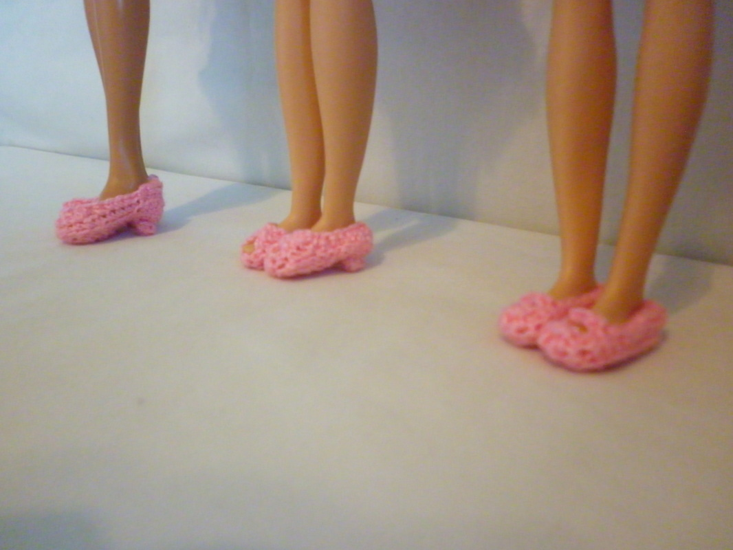 Crochet Barbie Shoes for Barbie, Skipper & Stacy