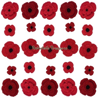 Crochet Remembrance Poppies Pattern by Rebeckah's Treasures