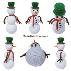 Crochet Snowman by Rebeckah's Treasures