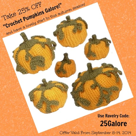 Take 25% OFF Pumpkins Galore! -Valid Sept 8-14, 2014