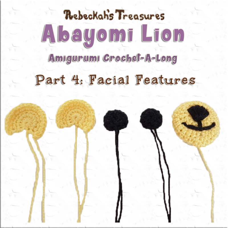 Amigurumi Abayomi Lion Cal - Part 4 via @beckastreasures / Now, let's crochet Abayomi's facial features!
