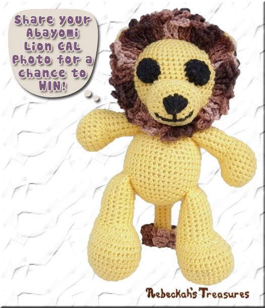 Share your Abayomi Lion CAL photo for a change to #WIN via @beckastreasures!