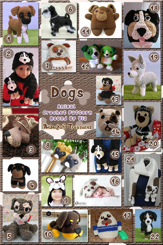 Dogs Part 2 | Animal Crochet Pattern Round Up for Working Dogs via @beckastreasures