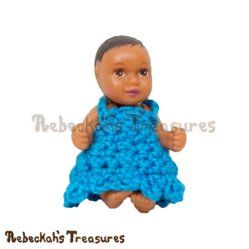 Simply BLUEtiful Baby Fashion Doll Dress / Free Crochet Pattern by @beckastreasures