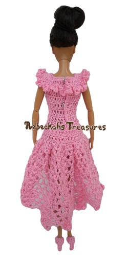 Isabel's Barbie Wedding ~ Barbie Bridesmaid Square Neckline