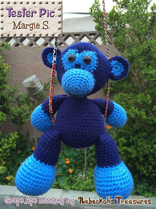 Grape Ape Monkey by @beckastreasures - Tested by Margie S.