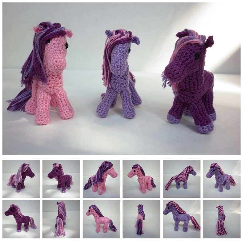 Commissioned Crochet Ponies