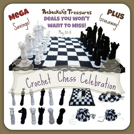 Crochet Chess Celebration! MEGA Savings + GIveaway ~ May 20-31