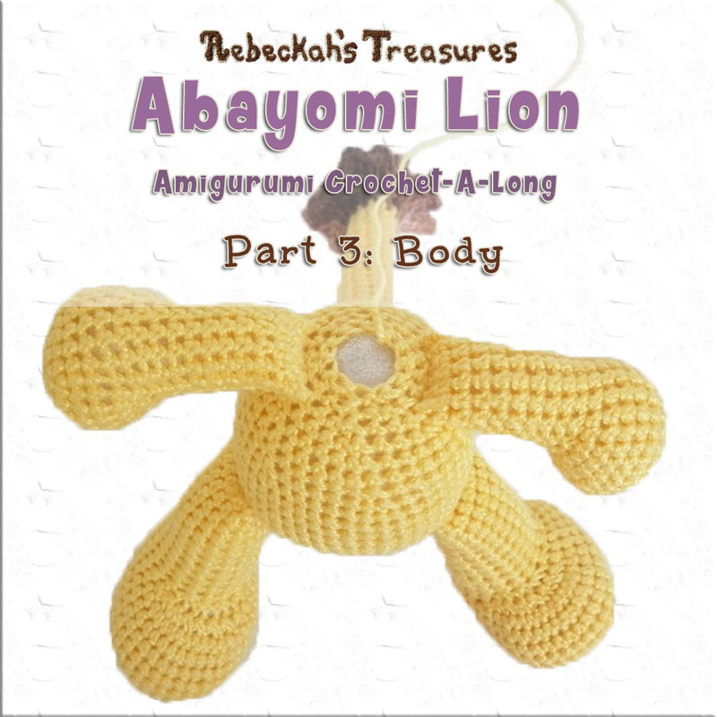 Amigurumi Abayomi Lion Cal - Part 3 via @beckastreasures / It's time to see some magic as we crochet Abayomi's body and add the arms, legs and tails as we go! Let the magic begin...