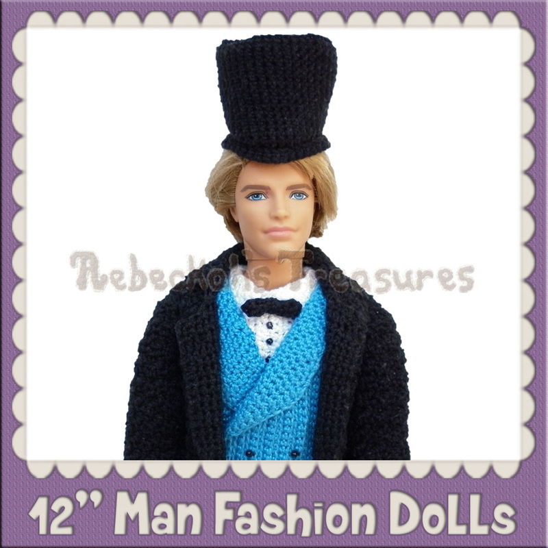 12 inch Man Fashion Doll Crochet Patterns by @beckastreasures