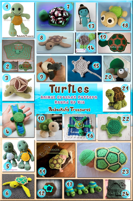 Turtles - Animal Crochet Pattern Round Up via @beckastreasures