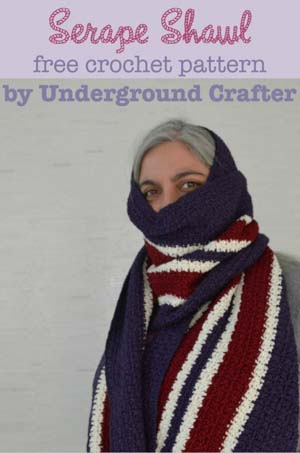 Serape Shawl by Marie of Underground Crafter | Featured on @beckastreasures Saturday Link Party!