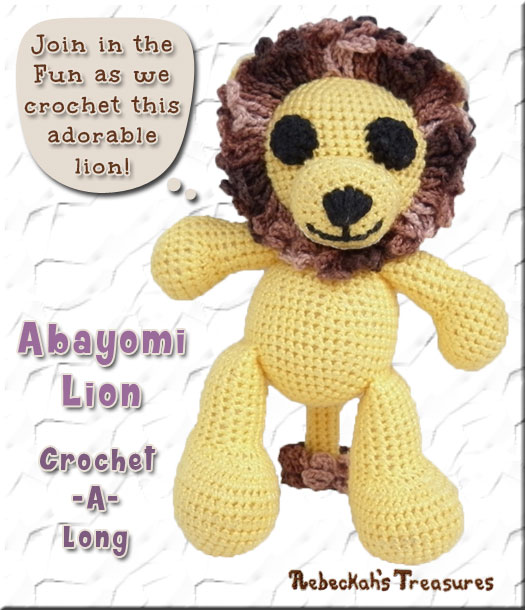 Amigurumi Abayomi Lion Cal - Part 2 via @beckastreasures / Join me as we crochet this adorable amigurumi Abayomi Lion, who brings happiness to all who meet him!