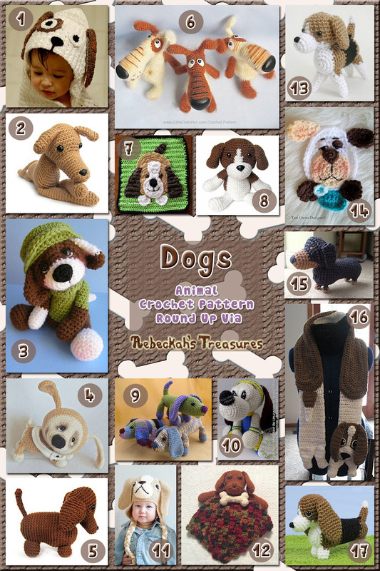 Dogs Part 1 | Animal Crochet Pattern Round Up for Hound Dogs via @beckastreasures
