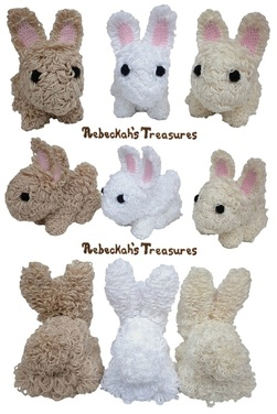 Loopy Snuggle Crochet Bunnies