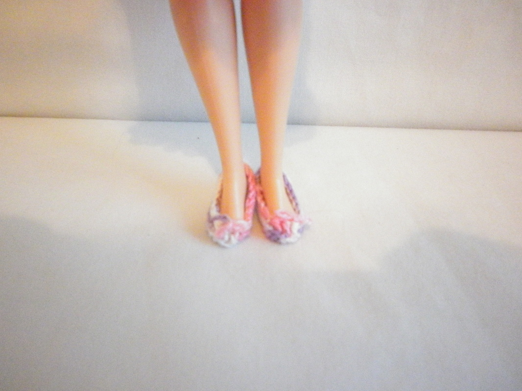 Crochet Grandma Barbie Shoes