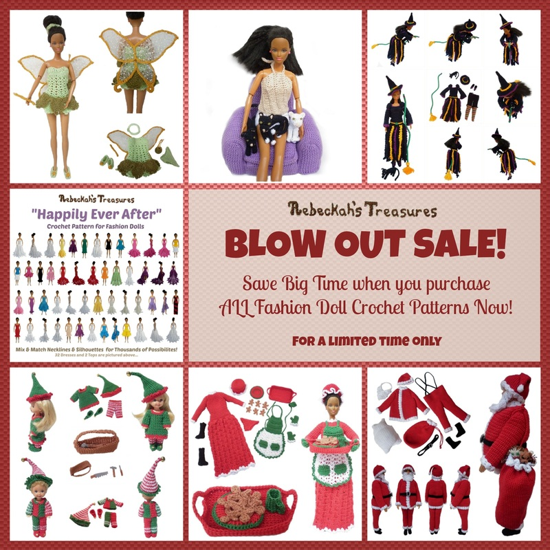 BLOW OUT SALE - 1 Year - Fashion Doll Patterns
