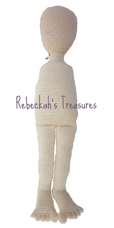 WIP Crochet Amigurumi Dolly by Rebeckah's Treasures ~ Body Completed