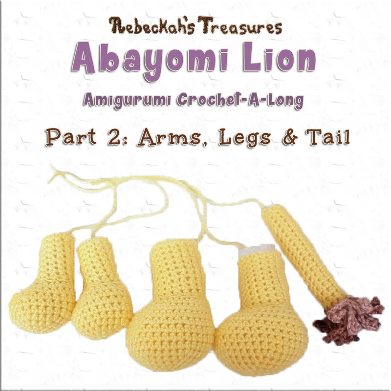 Amigurumi Abayomi Lion Cal - Part 2 via @beckastreasures / It's time to crochet Abayomi's arms, legs and tail. So grab your hooks and yarn, and let the crocheting fun begin!