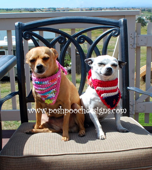 Dog Flag Bandanna by Sara of Posh Pooch Designs | Featured on @beckastreasures Saturday Link Party with @PoshPoochDesign!