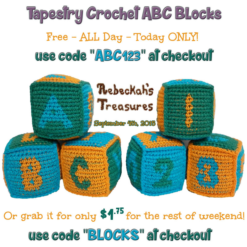 Special deal on the ABC blocks you won't want to miss! Valid on September 4th-6th, 2015 only via @beckastreasures