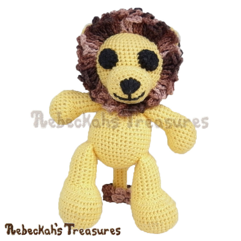 Amigurumi Abayomi Lion Cal - Part 1 via @beckastreasures / Join me as we crochet this adorable amigurumi Abayomi Lion, who brings happiness to all who meet him!