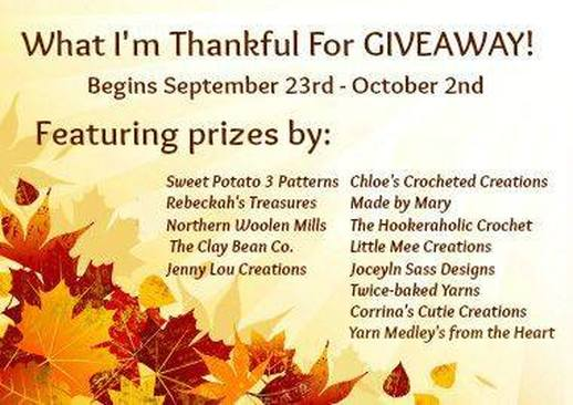 What I'm Thankful for Giveaway via @beckastreasures