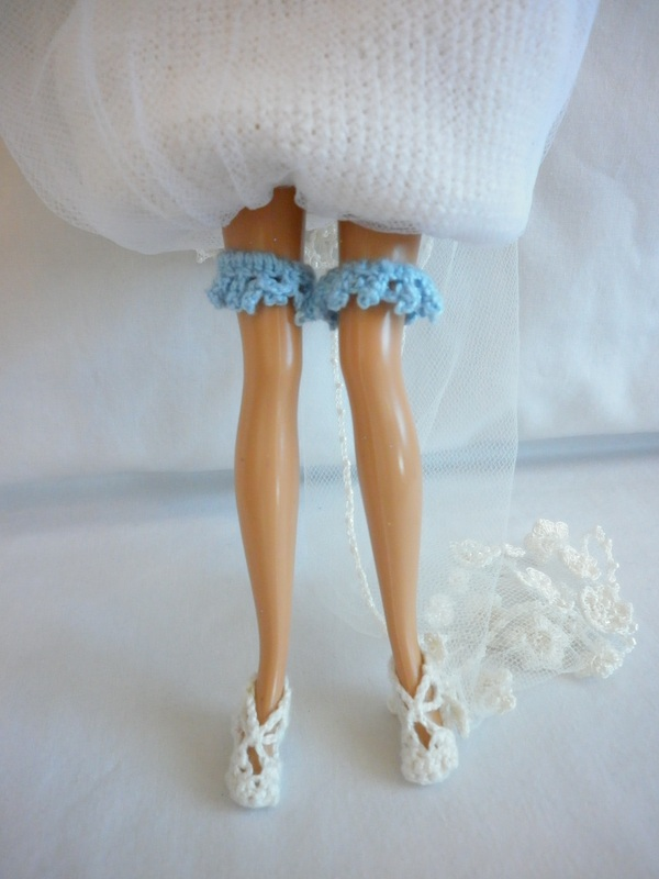 Crochet Barbie Bride Garter
