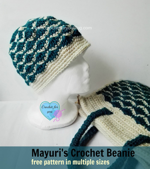 Mayuri's Crochet Beanie by Erangi of Crochet for you | Featured on @beckastreasures Saturday Link Party with @erangi_udeshika!