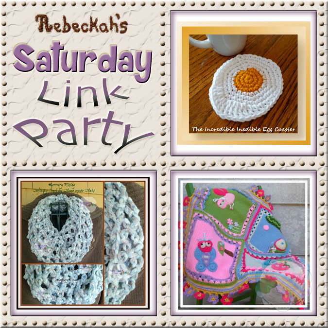 Come share what your crocheting via Rebeckah's 2nd Saturday Link Party with @beckastreasures!