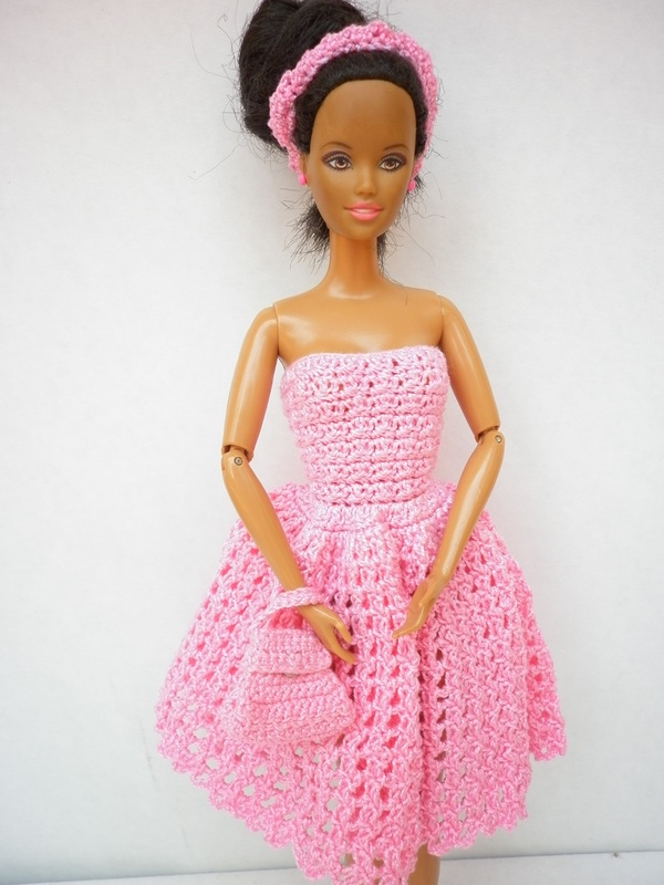 50's Pink - Crochet Barbie Dress
