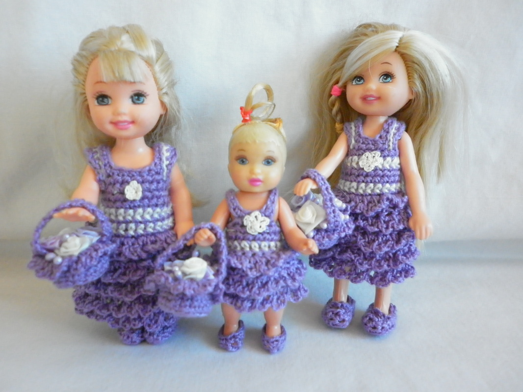 Crochet Kelly Flower Girl Dresses