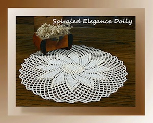 Spiraled Elegance Doily by Cylinda of Crochet Memories - Featured on @beckastreasures Saturday Link Party!