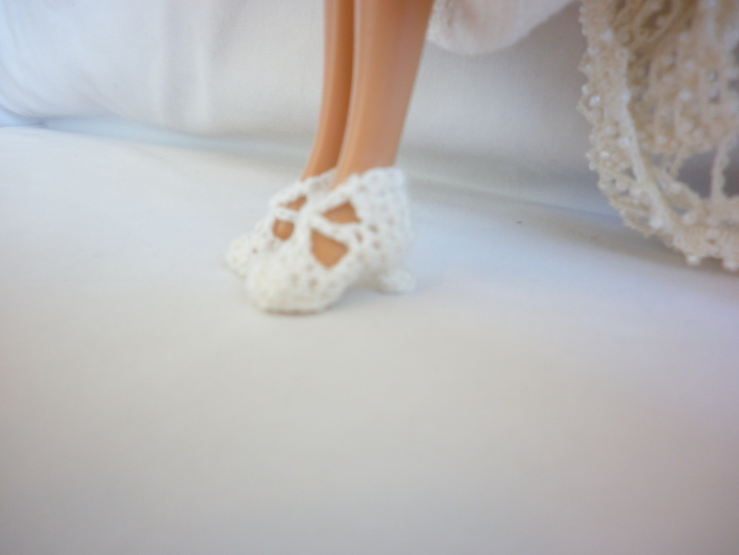 Crochet Barbie Bride Shoes