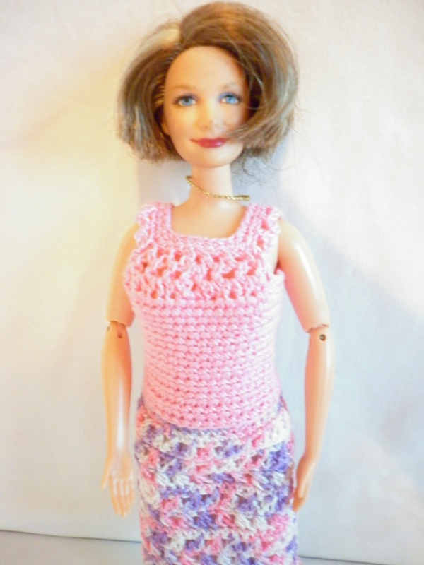 Crochet Grandma Barbie Dress