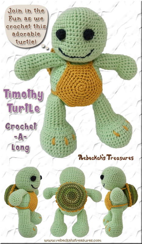 Timothy Turtle Crochet-A-Long via @beckastreasures / Join in the fun as we crochet this adorable amigurumi turtle!