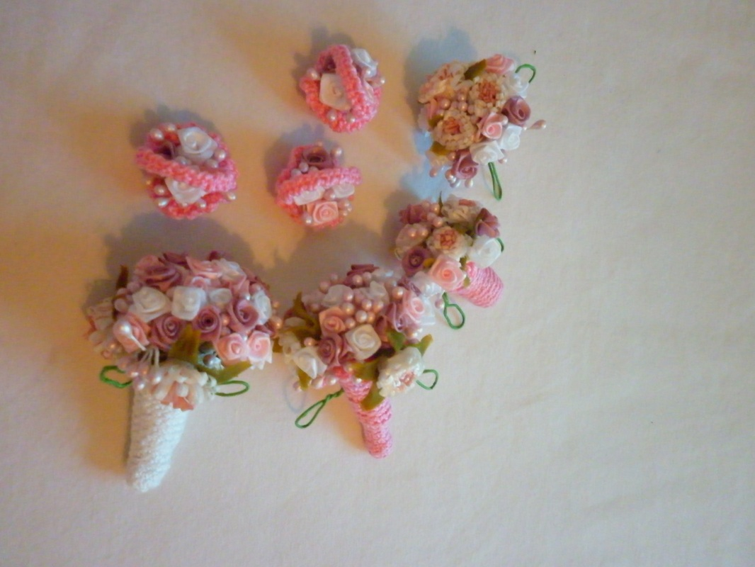 Crochet Barbie Flower Bouquets