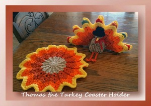 Thomas the Turkey Coaster Holder CAL by Cylinda of Crochet Memories - Featured on @beckastreasures Saturday Link Party!