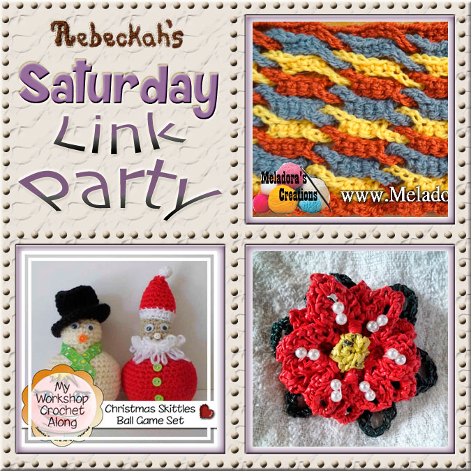 Share what you're making, increase your reach and have some fun with Rebeckah's 22nd Saturday Link Party with @beckastreasures