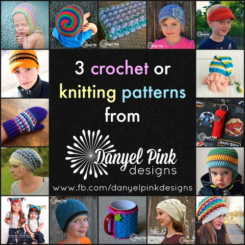 WIN 3 #crochet or #knitting patterns from Danyel Pink Designs (@danyelpink) via @beckastreasures 5000 FB Fan Appreciation Giveaway! Ends at Midnight on 06/17/15