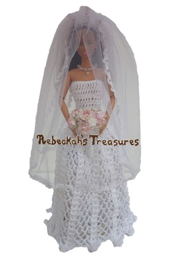 Isabel's Barbie Wedding ~ Barbie Bride with Veil in Front