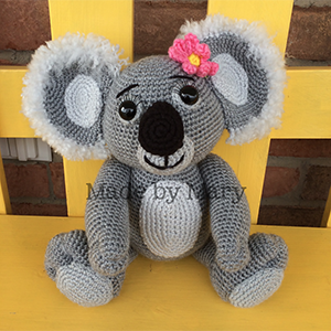 Koala Amigurumi - Crochet Pattern by #MadebyMary | Featured at Made by Mary - Sponsor Spotlight Round Up via @beckastreasures | #fallintochristmas2016 #crochetcontest #spotlight #crochet #roundup