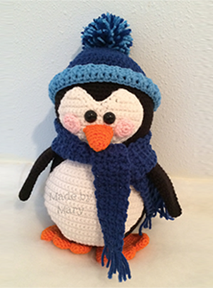 Penguin Amigurumi - Crochet Pattern by #MadebyMary | Featured at Made by Mary - Sponsor Spotlight Round Up via @beckastreasures | #fallintochristmas2016 #crochetcontest #spotlight #crochet #roundup