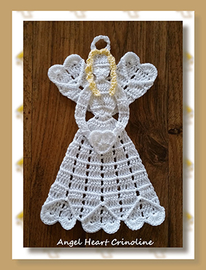 Angel Heart Crinoline - Free Crochet Pattern by @crochetmemories Featured at Crochet Memories - Sponsor Spotlight Round Up via @beckastreasures | #fallintochristmas2016 #crochetcontest #spotlight #crochet #roundup