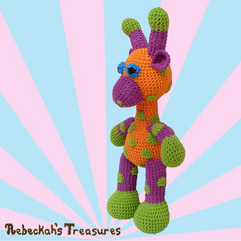 April's Left Side | #Otis #Giraffe - #Amigurumi Crochet-A-Long by @beckastreasures | #OtisGiraffeCAL Part 5: FACIAL FEATURES (muzzle, ears, eyes, horns) - Watch 4 #Video #Tutorials AND #Download the crochet pattern for this part of the #CAL in #English #Dansk #Nederlands #Deutsche #עִברִית #Español & #Svenska! | #crochet #pattern #April #YouTube