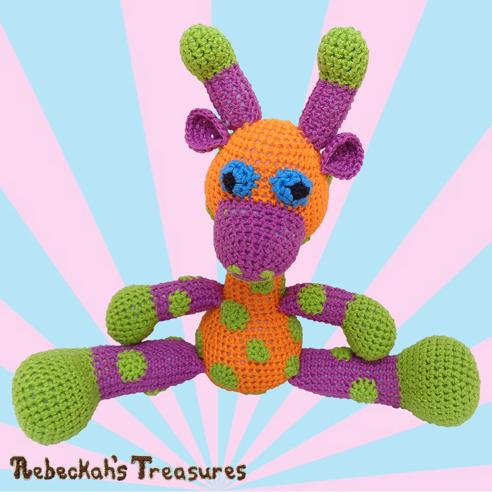 April Sitting! | #Otis #Giraffe - #Amigurumi Crochet-A-Long by @beckastreasures | #OtisGiraffeCAL Part 5: FACIAL FEATURES (muzzle, ears, eyes, horns) - Watch 4 #Video #Tutorials AND #Download the crochet pattern for this part of the #CAL in #English #Dansk #Nederlands #Deutsche #עִברִית #Español & #Svenska! | #crochet #pattern #April #YouTube