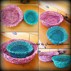 Streamer Trinket Bowls - Free Crochet Pattern by #NeensCrochetCorner | Featured at Neen's Crochet Corner - Sponsor Spotlight Round Up via @beckastreasures | #fallintochristmas2016 #crochetcontest #spotlight #crochet #roundup